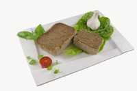 Baked pate with poultry
