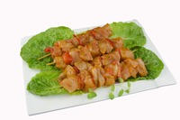 Chicken thigh kebab  with red pepper